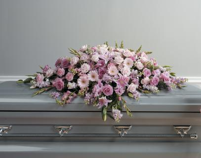 Lovely Lavender And Pink Casket Spray
