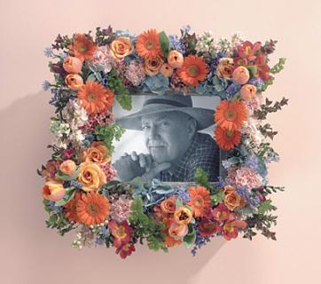 Peach Memorial Picture Frame