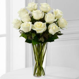 The White Rose Bouquet For Sympathy