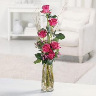 Heavenly Half-Dozen Pink Roses For Symapthy