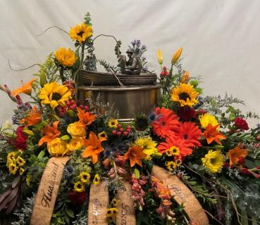 FISHERMAN WILDFLOWER URN AND CASKET REMEMBERANCE
