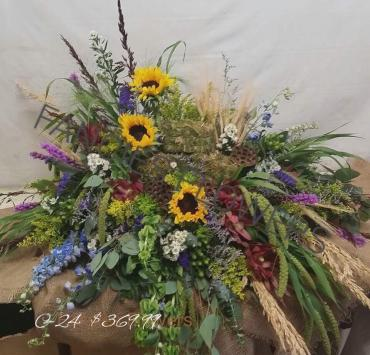 WILDFLOWER GARDEN CASKET SPRAY
