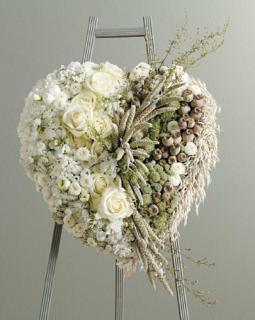 Heart of White Flowers & Dried Materials