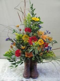 WILDFLOWER COWBOY BOOT FOR SYMPATHY