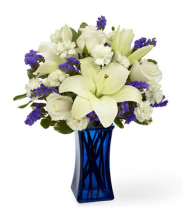 BEYOND BLUE SYMPATHY BOUQUET delivered in Rapid City, SD | Fancies Sympathy & Funeral Flowers